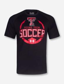 Under Armour Texas Tech Texas Tech Soccer on Black T-Shirt