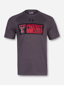 Under Armour Texas Tech Protect This House on Heather Charcoal T-Shirt