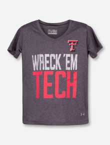 Under Armour Texas Tech Wreck 'Em Tech Heather Grey YOUTH T-Shirt