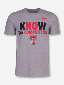 "Nike Texas Tech ""Know The Competition"" on Heather Grey T-Shirt"