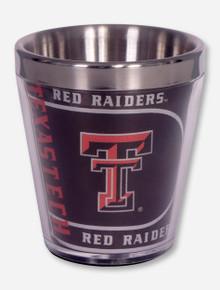 Texas Tech Black Metallic Graphics Wrap Shot Glass
