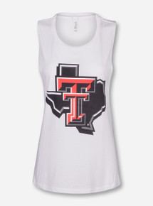 Texas Tech Lone Star Pride on White Tank Top
