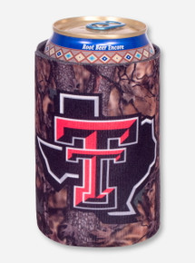 Texas Tech Lone Star Pride Camo Koozie