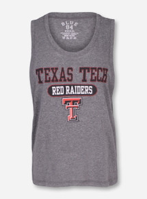 "Blue 84 ""Ponce"" Texas Tech Red Raiders on Heather Grey Tank Top"