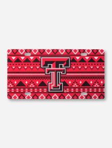 Texas Tech Aztec Double T License Plate