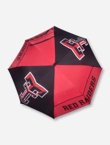 "Texas Tech 62"" Hybrid Black Umbrella"