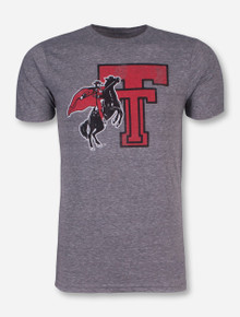 Retro Brand Throwback Double T with Rearing Rider T-Shirt - Texas Tech