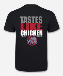 """Tastes Like Chicken"" Black T-Shirt - Texas Tech"