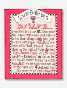 How To Really Be A Red Raider Canvas - Texas Tech