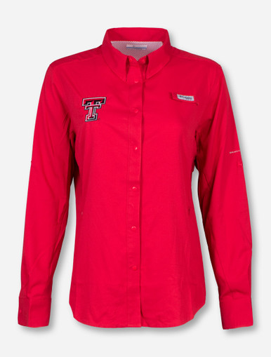 Texas tech red raiders columbia tamiami women 39 s long Columbia womens fishing shirt