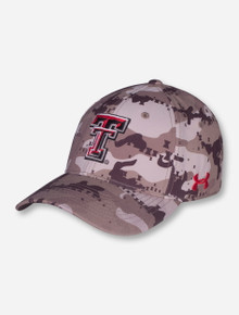 Under Armour Texas Tech Camo Double T Fitted Cap