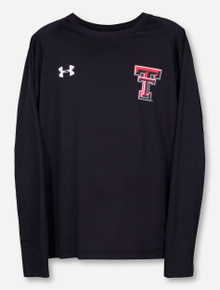 "Under Armour Texas Tech ""King's Sideline"" on Black YOUTH Long Sleeve"