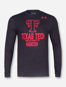 "Under Armour Texas Tech ""Legacy"" Tri-Blend Heather Charcoal Long Sleeve"