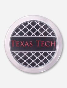 Texas Tech Black Lattice Coaster