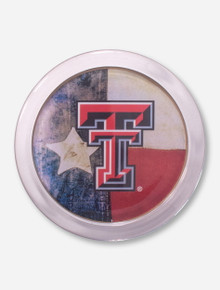 Texas Tech Double T with Texas State Flag Coaster