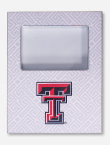Texas Tech Double T on White Greek Key Frame