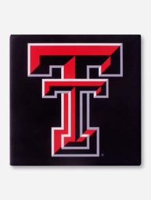Texas Tech Double T on Black Trivet