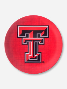 Texas Tech Double T on Red Plate