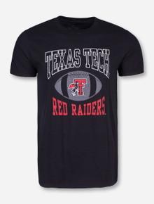 Texas Tech Pigskin on Black T-Shirt