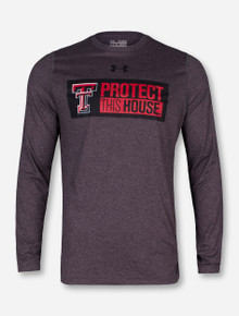 "Under Armour Texas Tech ""Protect This House"" Heather Charcoal Long Sleeve"