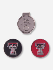 Team Effort Texas Tech Double T Hat Clip and Ball Markers