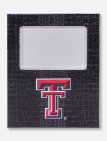 Texas Tech Double T on Black Crocodile Skin Frame