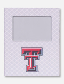 Texas Tech Double T on White Lattice Frame