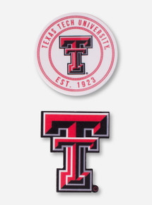 Set of 2 Texas Tech Medallion Magnets