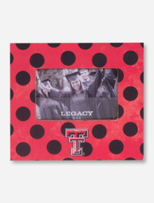 Texas Tech Double T on Red and Black Polka Dot Frame