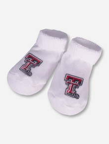 Texas Tech Double T White INFANT Booties