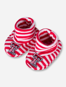 Texas Tech Double T Red and White Striped INFANT Booties