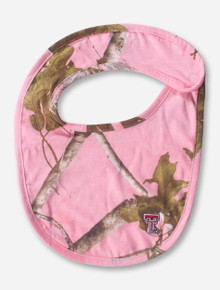 Texas Tech Double T on Pink RealTree Camo INFANT Bib
