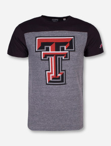Texas Tech Double T Two Toned Grey and Charcoal T-Shirt