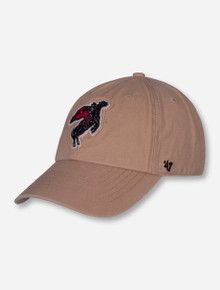 "47 Brand Texas Tech ""Rearing Rider"" on Khaki Adjustable Cap"