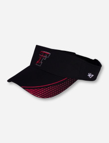47 Brand Texas Tech Double T Black and Red Textured Visor