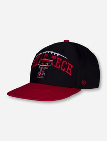 "47 Brand Texas Tech ""Football Silhoutte"" YOUTH Red and Black Cap"