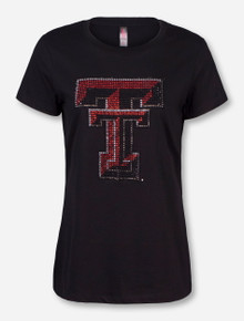 Texas Tech Bling Double T Crew Neck T-Shirt