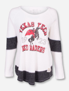 Retro Brand Texas Tech Rearing Rider Thermal Long Sleeve Shirt