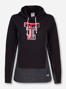 Under Armour Texas Tech Double T Cowl Neck Women's Black Hoodie