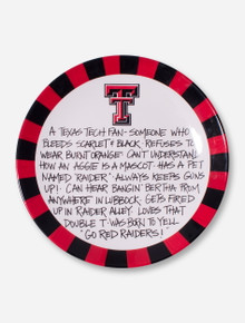 Texas Tech Fan Ceramic Plate
