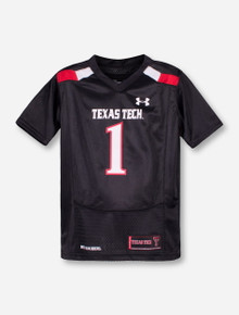 Under Armour Texas Tech Replica #1 KIDS Black Jersey