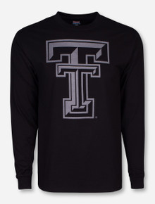 Texas Tech Black Diamond Double T Reflective Black Long Sleeve Shirt