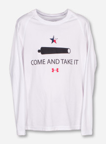 Under Armour Texas Tech Come and Take It YOUTH White Long Sleeve Shirt