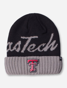 "47 Brand Texas Tech ""Script Ace"" Black and Grey Beanie"