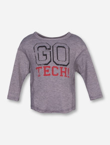 Livy Lu Go Tech TODDLER Heather Grey Sweater - Texas Tech