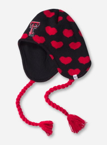 47 Brand Texas Tech Double T Heart YOUTH Black Over the Ear Beanie