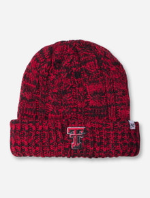 "47 Brand Texas Tech ""Cozy"" Double T Women's Black and Red Knit Cap"