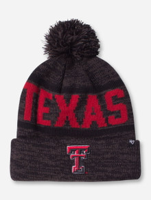 47 Brand Woven Texas Tech Charcoal Cuff Knit Cap