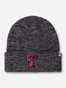 "47 Brand Texas Tech ""Lancaster"" Double T Grey and Black Knit Cap"
