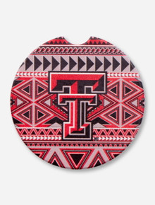 Texas Tech Double T Aztec Absorbent Car Coaster